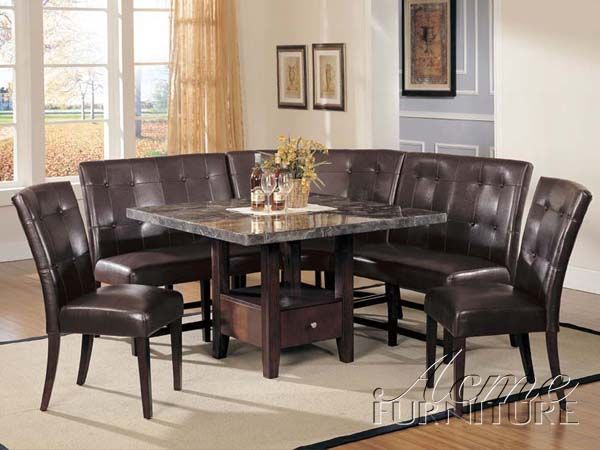 Marble Top Dinette Table I Like The Banquette Seating