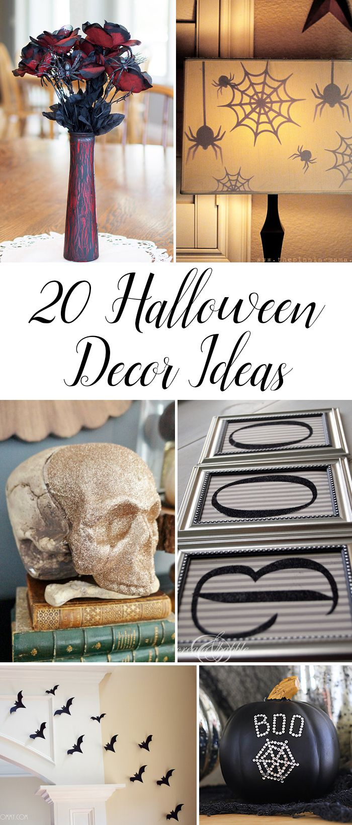 Top 20 DIY Halloween Decor Ideas Pinterest DIY Halloween - Halloween Decoration Ideas Pinterest