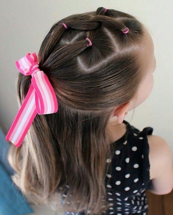Lindo peinado para el colegio adorable kids hair Pinterest - peinados de nia faciles de hacer