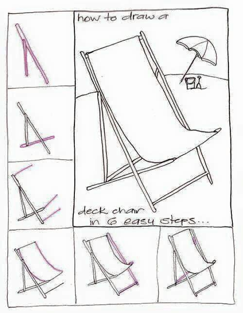 chair drawing easy. Draw A Deck Chair In Simple Steps. *-* $$. $$ Drawing Easy S