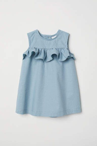 Flounced Cotton Dress