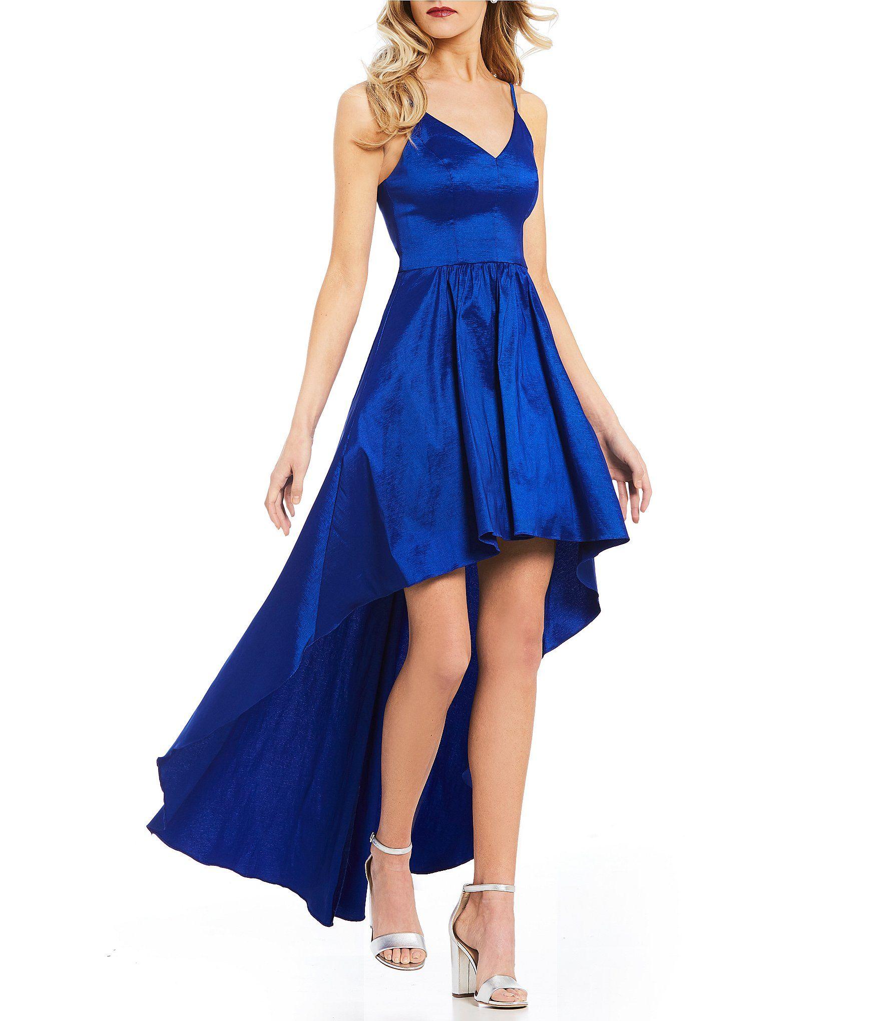 B darlin spaghettistrap long highlow dress so fancy pinterest