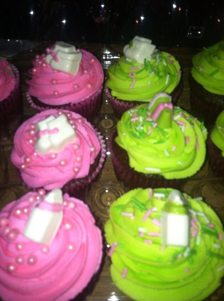 Cupcakes I made for a baby shower