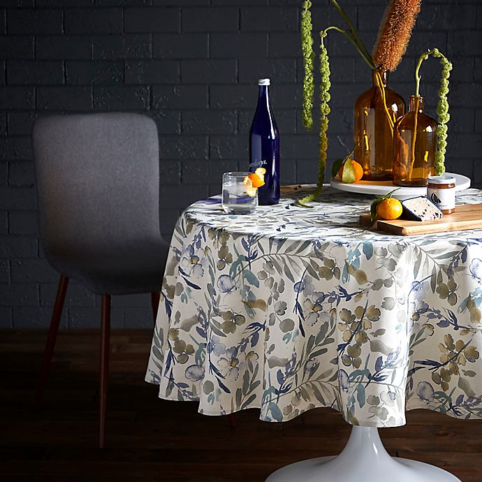 Artisanal Kitchen Supply Organic Leaves Oblong Tablecloth Bed Bath Beyond Round Leaf