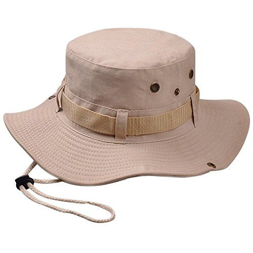 88b2bef2 Isend Sun Hat - Fishing Hats UPF50+ UV Protection Bucket Hat with  Adjustable Chin Strap for