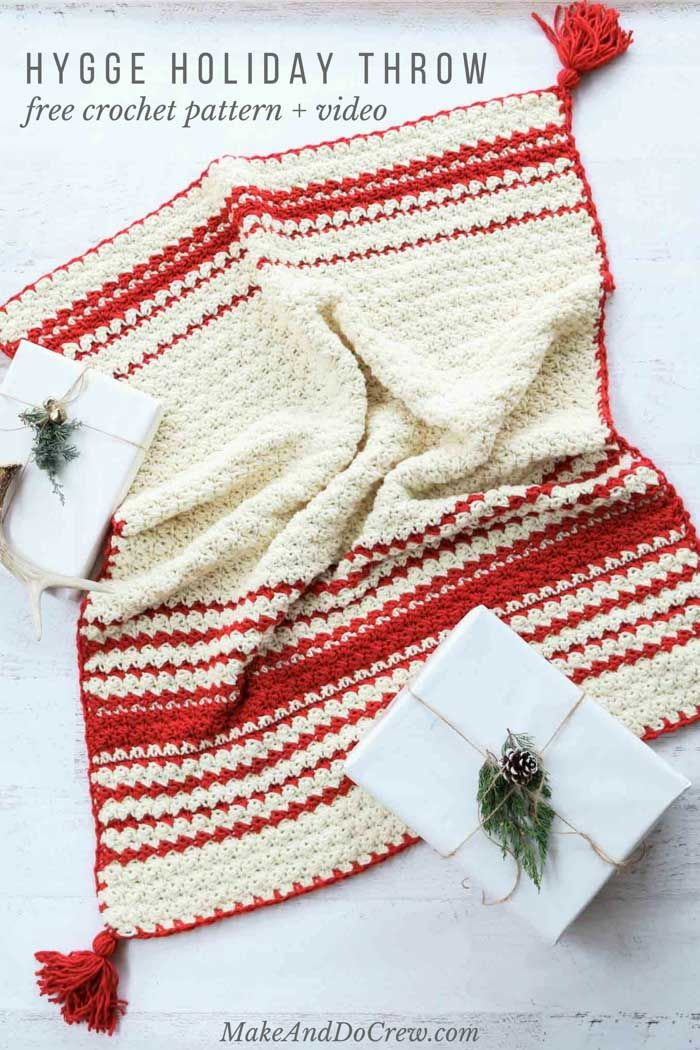 Hygge Holiday Free Beginner Crochet Blanket Pattern - Easy! | Mantas ...