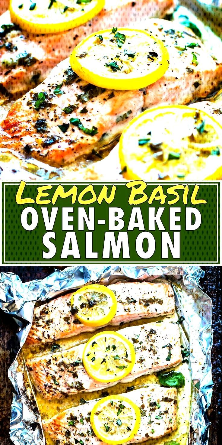 Basil u. Lemon baked salmon in foil - ... - Basil u. Lemon baked salmon in the foil -
