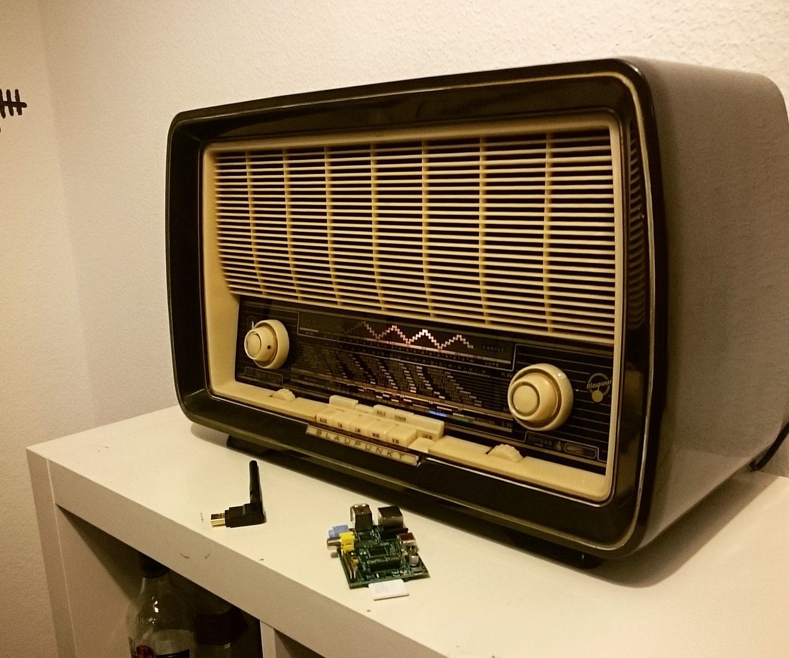 Converting An Old Radio Into A Spotify Streaming Box Old Radios Diy Bluetooth Speaker Spotify Streaming