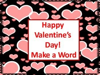 Valentines Day Make a Word  A Valentines Day Activity Students