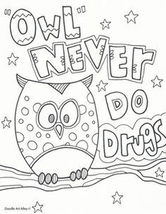 just say no to drugs coloring pages - say no to drugs and alcohol coloring pages