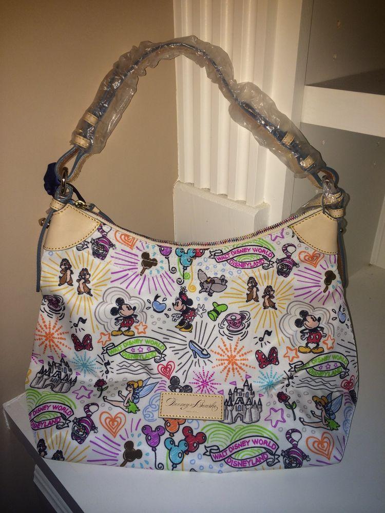 04388dc8cfaa Disney Dooney & Bourke Mickey Sketch Nylon Champsac Erica Bag Purse Handbag  NWOT $170.00