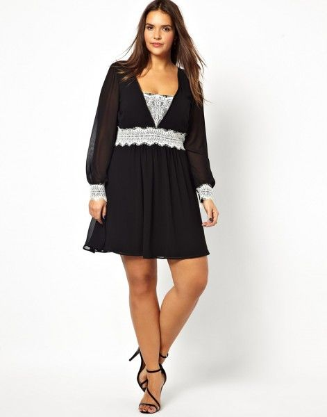 (Foto 21 de 27) 25 vestidos cortos para mujeres un poco más gorditas | HISPABODAS