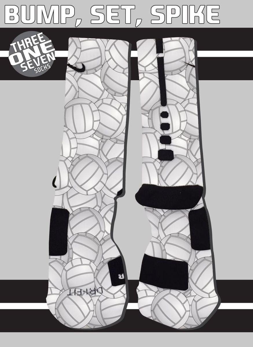 Bump Set Spike Custom Nike Elite Volleyball Socks Volleyball Socks Nike Elite Socks Nike Elite