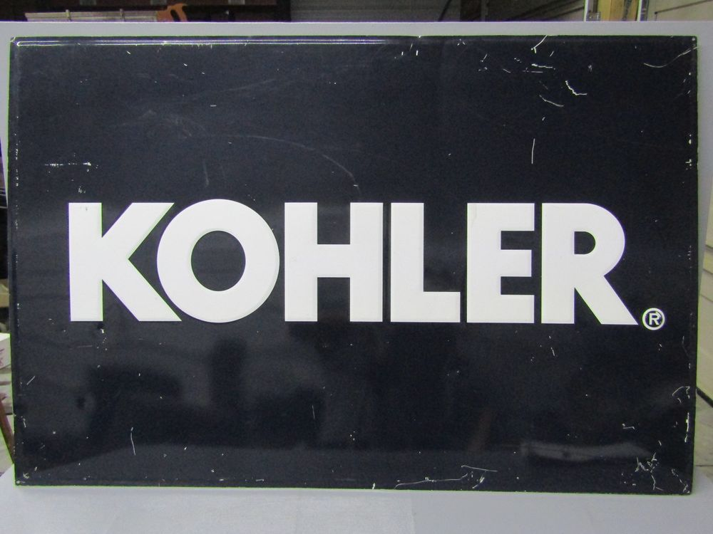 Vintage KOHLER Sign Embossed Metal Engine Equipment Dealer ...