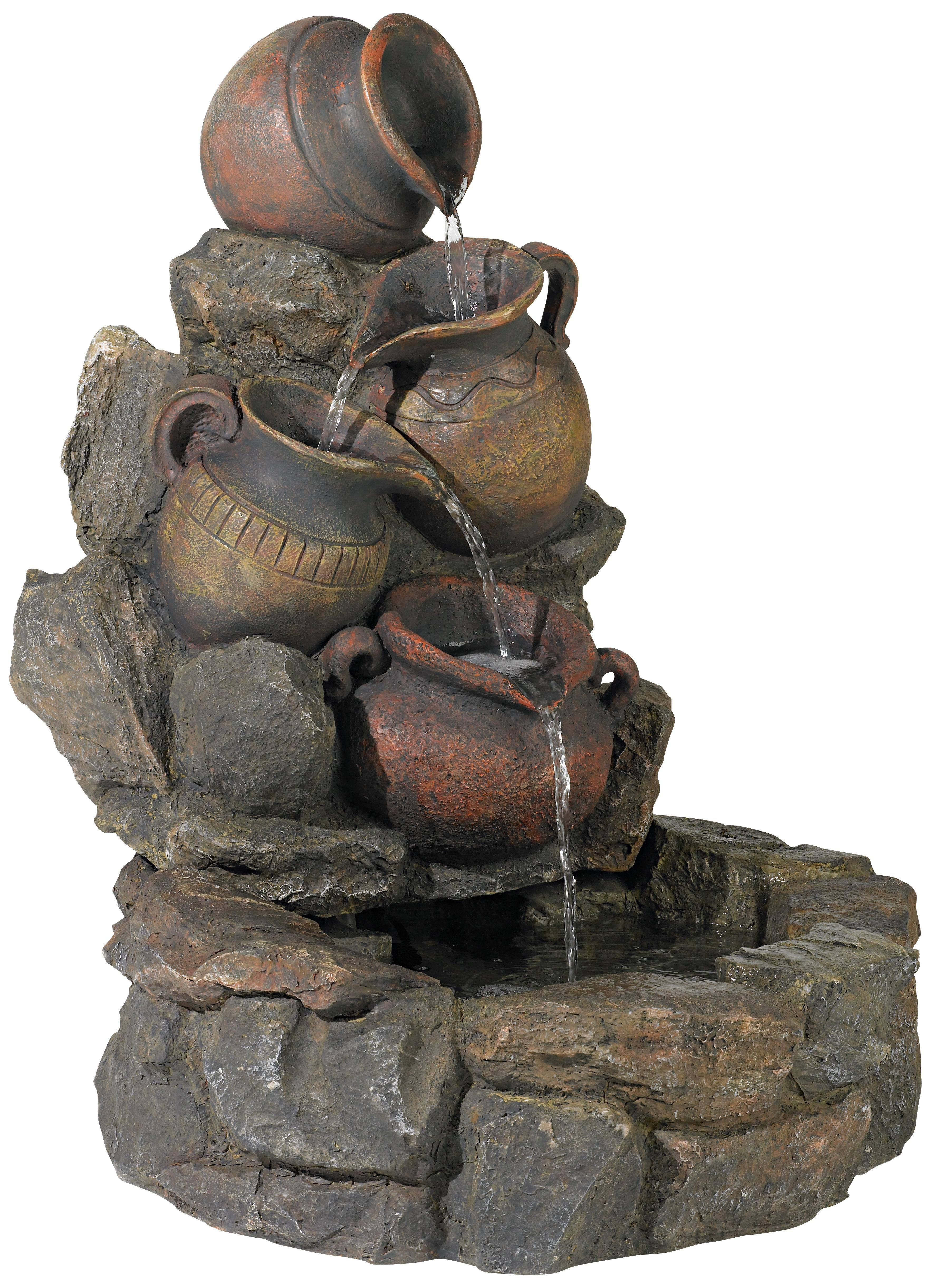 Cascading Rustic Jars Indoor Or Outdoor Fountain Lampsplus Com