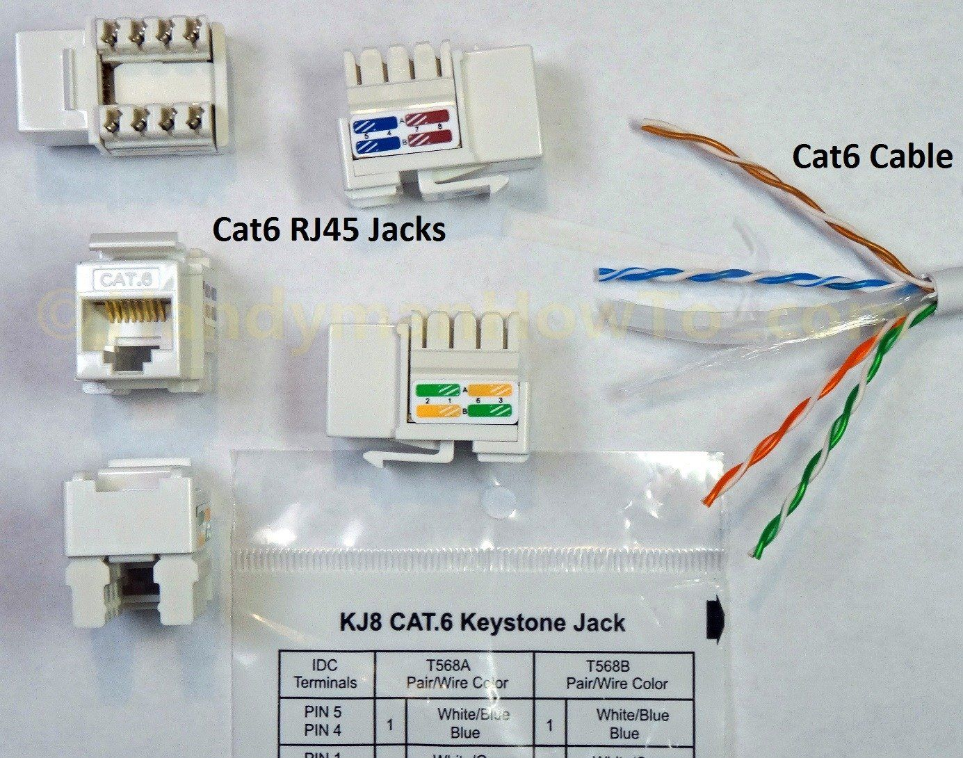 How to Wire a Cat6 RJ45 Jack in 2020 Rj45, Wire