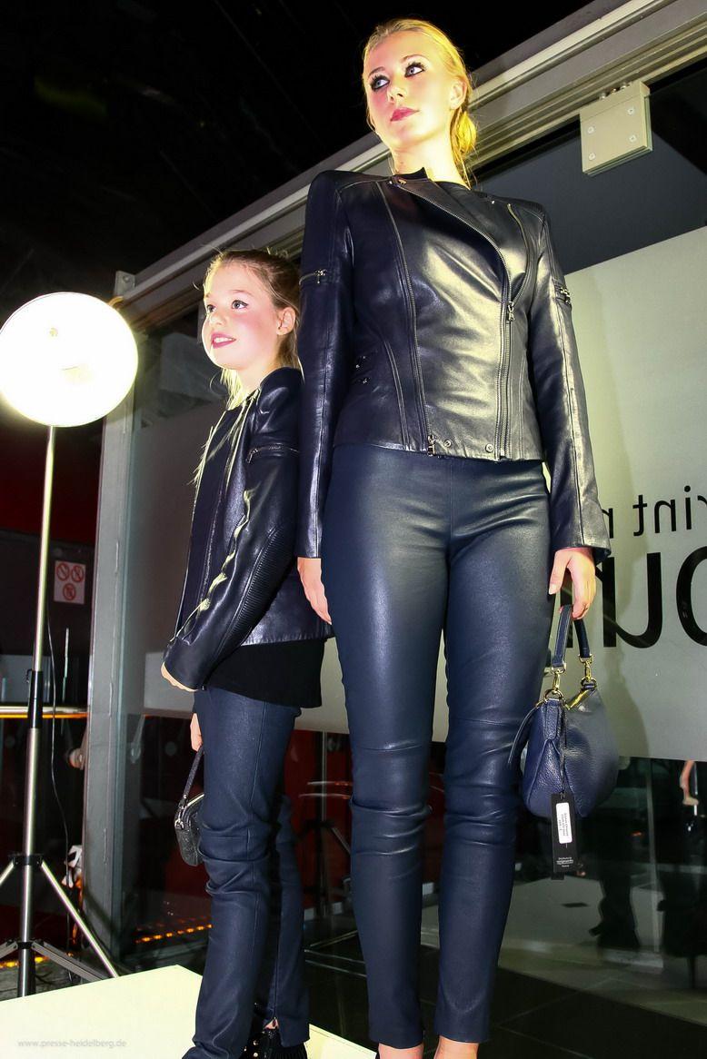 Das Set aus Leder für Mutter und Tochter! Bikerjacke aus ...