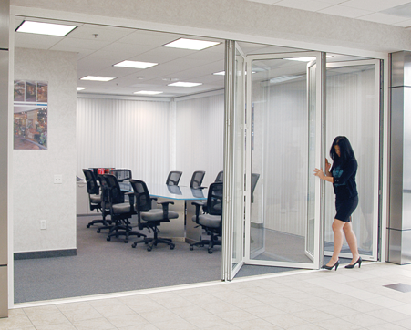 Crl Monterey Bi Folding Glass Wall Office System