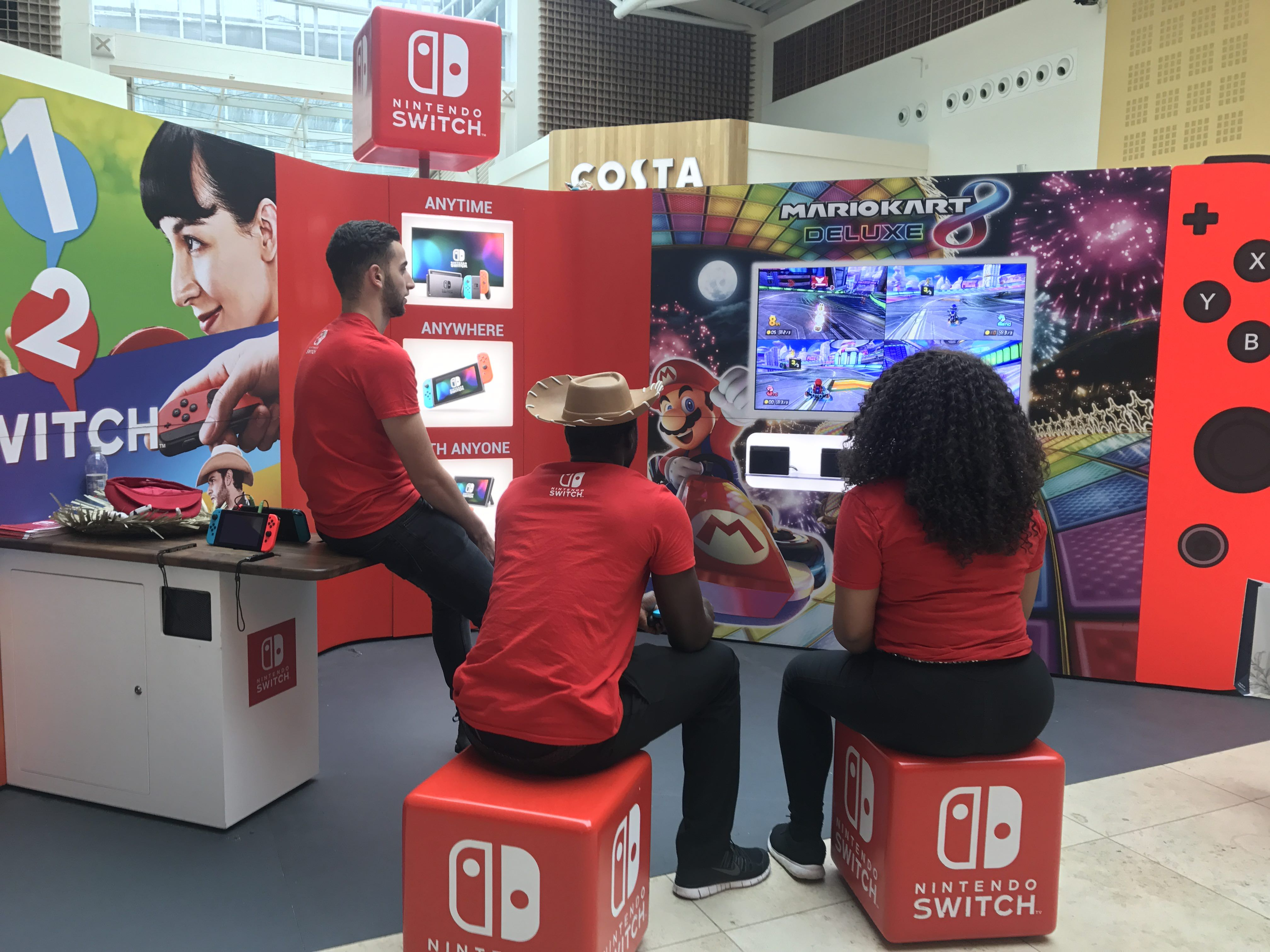 Switch display at mall in England http://bit.ly/2lnzap3 #nintendo