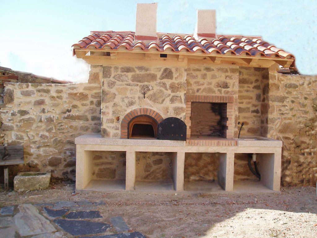 Parrilla y horno para el patio de la casa nice design of bbq and - La casa del barbecue ...