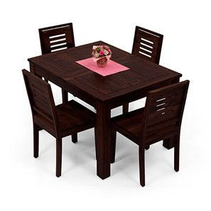 Arabia Expandable Capra 4 Seater Dining Table Set Mahogany