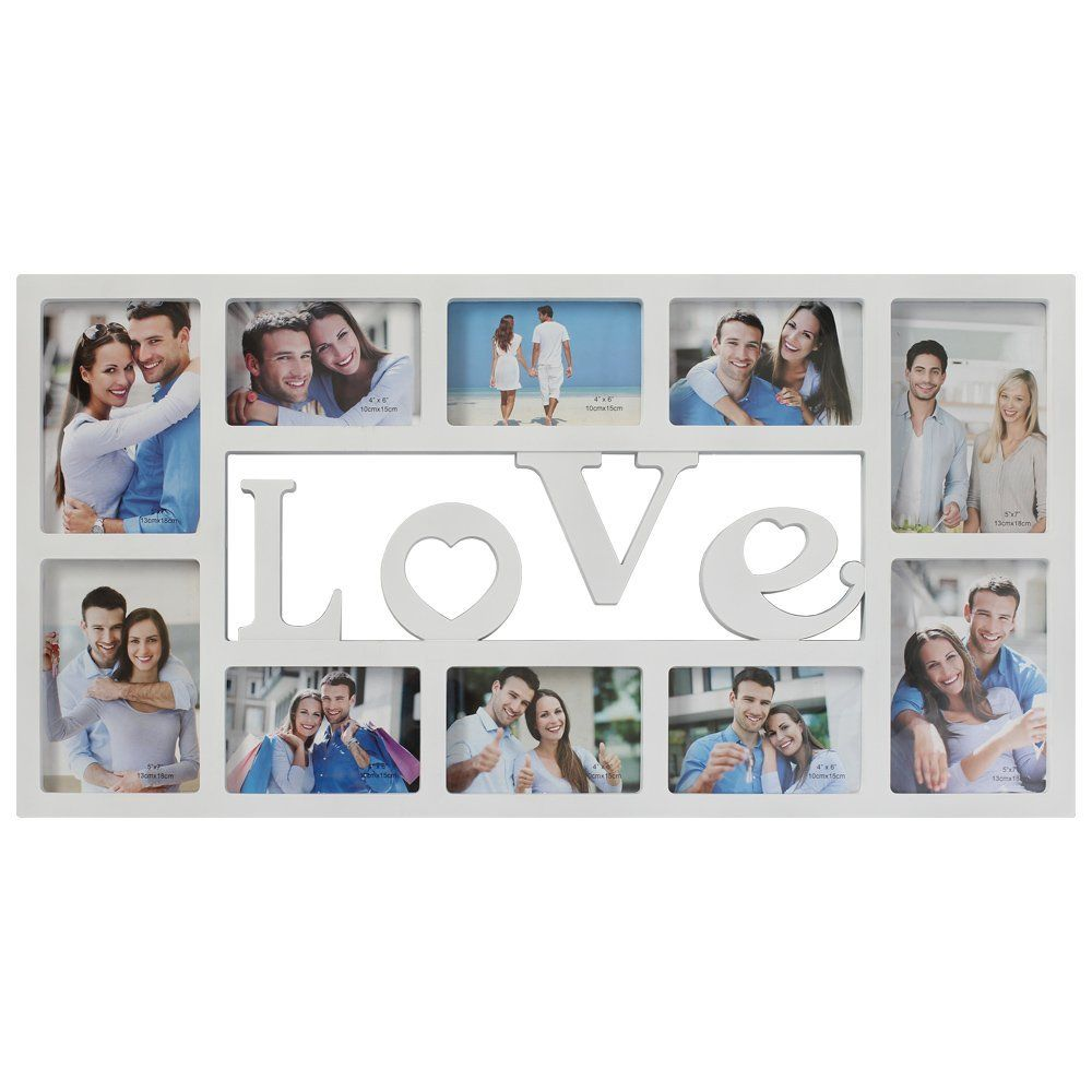 Nexa Photo Frame Wood Love Picture Frame Wall Hanging Rahmen Portable 10 Phonoes 3d Style Dec Picture Frame Decor Wall Hanging Photo Frames Picture Frame Wall