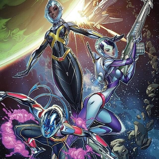 A Shot Of My Interior Page From All New X Men 25 X Men In Spaaaaace Coloring By Neiruffino Storm Psylocke Nightcrawler J Scott Campbell Scott Campbell