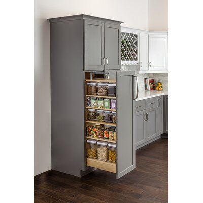 Hardware Resources Wood Cabinet Pull Out Pantry | Wayfair #kitchenpantrycabinets
