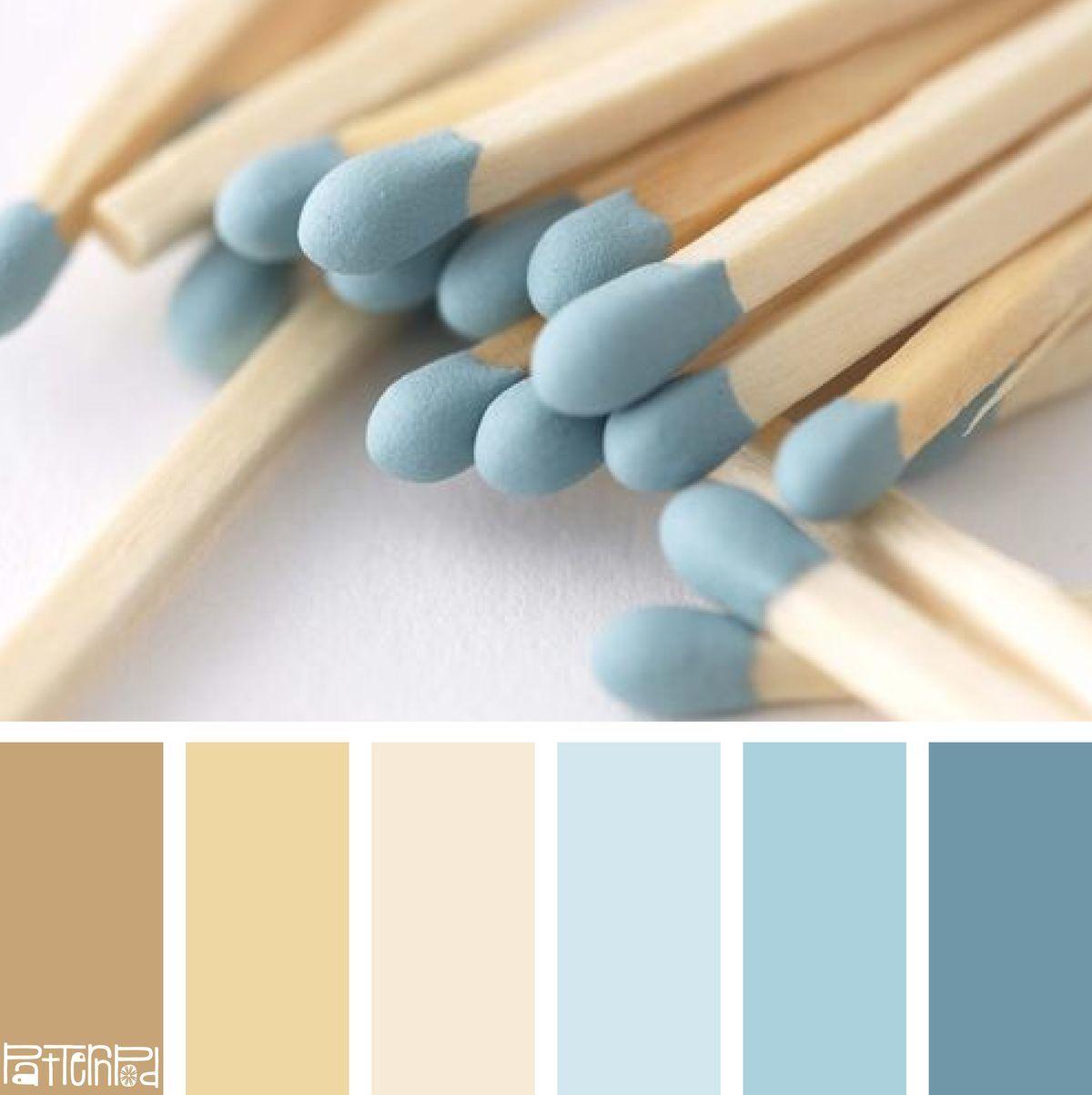 Blues Beige Color Combination Pastel Color Wood Color