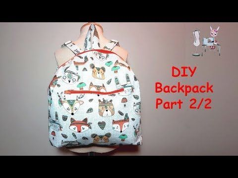 DIY Backpack 2 of 2   Coudre un sac à dos   Coser una mochila   バックパックを縫う  Sewing tutorial - YouTube    Sometimes we go to the store or the neighbor. There are only three things we want to take with us: the key, the wallet, the phone. We don't want to take bags with us for three things, not all of these things will fit in our pockets, so what you say to do; here is a practical handbag for situations like this I will tell y... #backpack #BAG #Coudre #DIY #part #sac #Sewing #Tutorial
