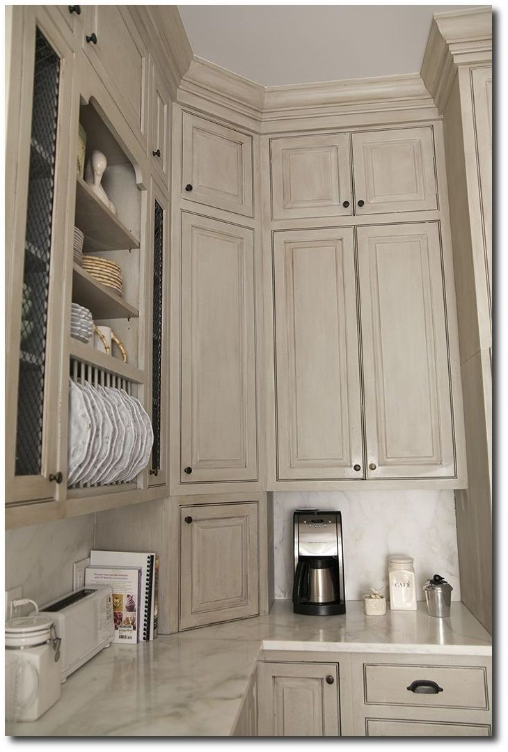 With Chalk Paint? 80+ Pictures Of Annie · Colored Kitchen CabinetsGlazed ...