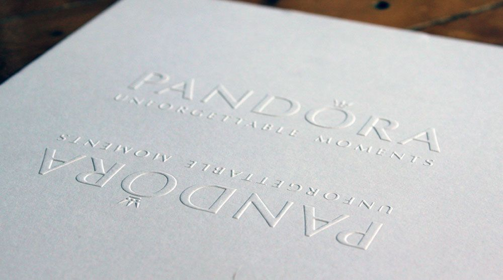 Blind Embossing Fashion Invitation Pandora Printed