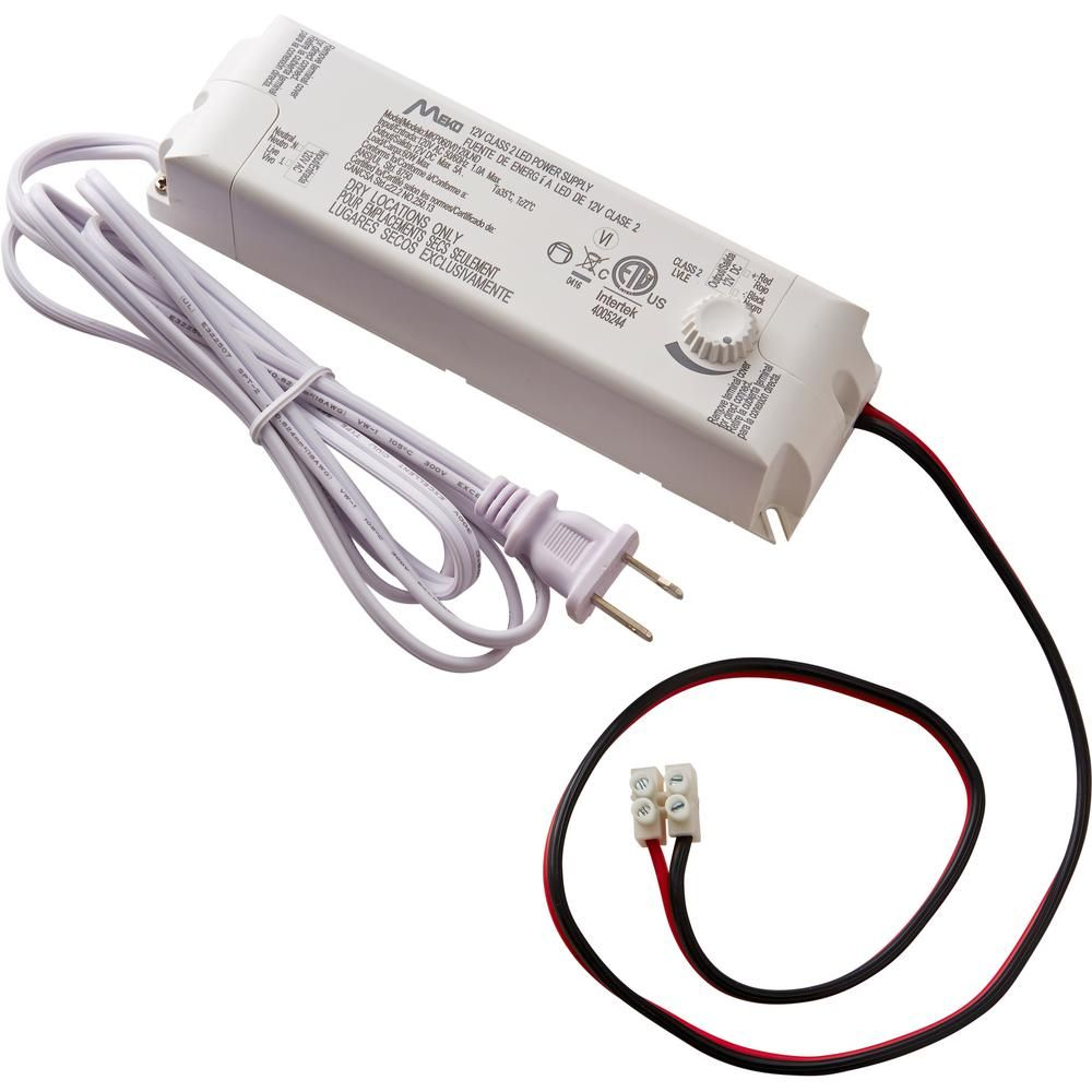 Commercial Electric 60 Watt 12 Volt Led Lighting Power Supply With Dimmer 17065 Led Lighting Home Commercial Electric Led