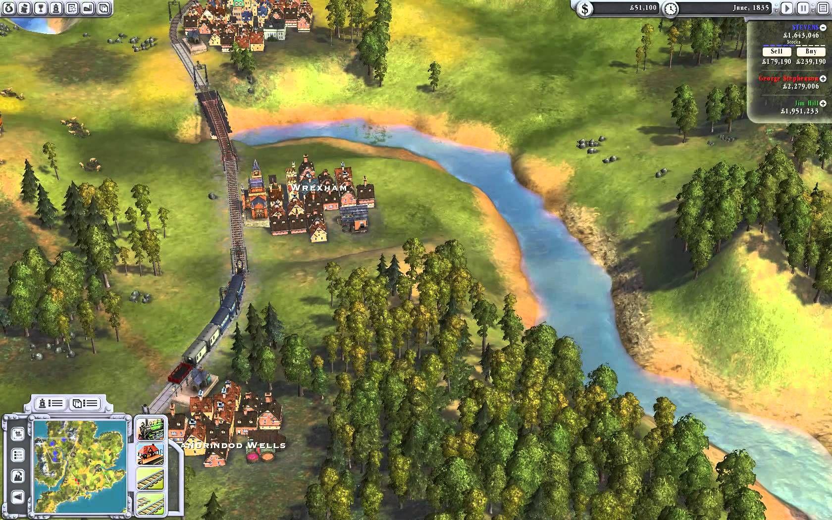 Sid Meier's Railroads Gameplay