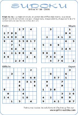 Sudoku Imprimer Le Sudoku Du Jour Sudoku à Imprimer