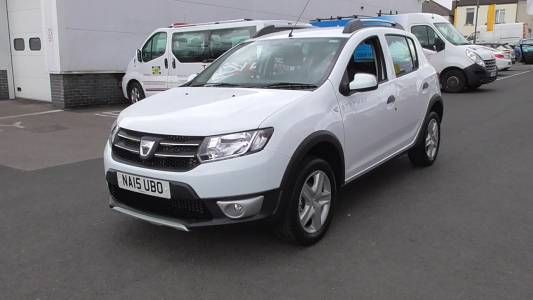 used 2015 15 reg white dacia sandero stepway 0 9 tce laureate 5dr for sale on rac cars dacia. Black Bedroom Furniture Sets. Home Design Ideas