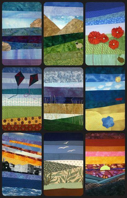 Striped Pieced Landscapes Quilt Routes Landscape Art Quilts Landscape Quilts Art Quilts