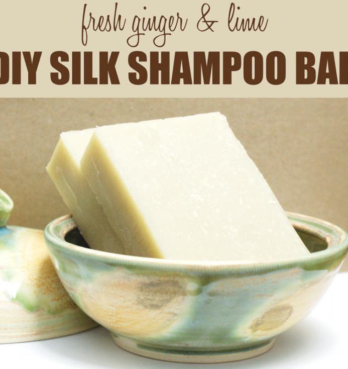 Ginger And Lime Homemade Shampoo Bar Recipe With Silk Shampoo Bar Recipe Homemade Shampoo Homemade Shampoo Bar