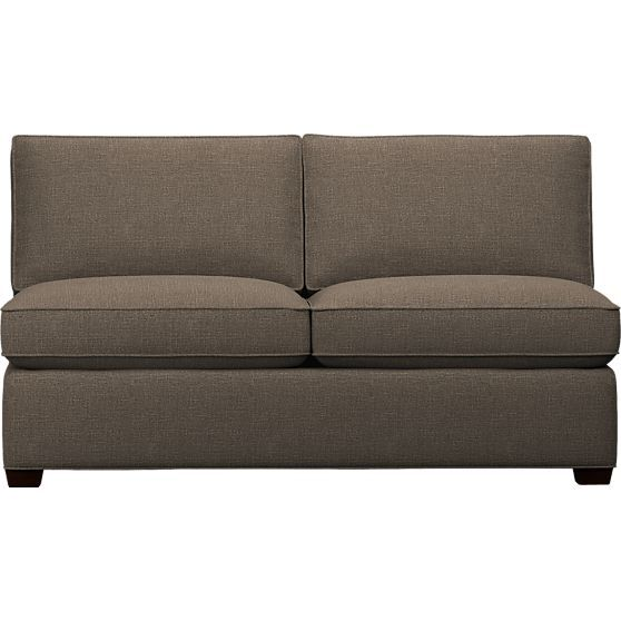 Davis Armless Sectional Full Sleeper Sofa In Chaises Crate And Barrel