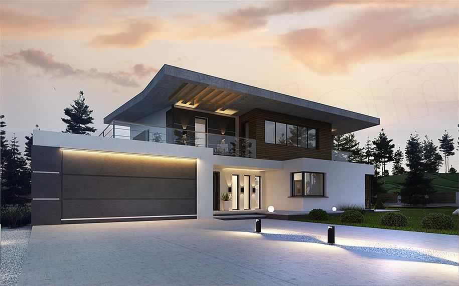 Luxury House Concept With 2 Car Garage Pool Area House And Decors House Flat Roof House Luxury House