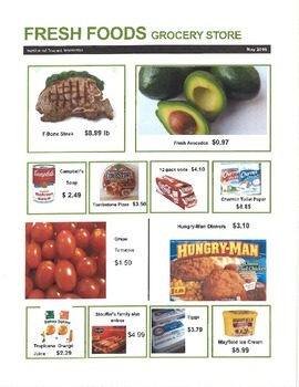 Grocery Store Math Ad Special Education Money Math Grocery Store Grocery Grocery Store Ads