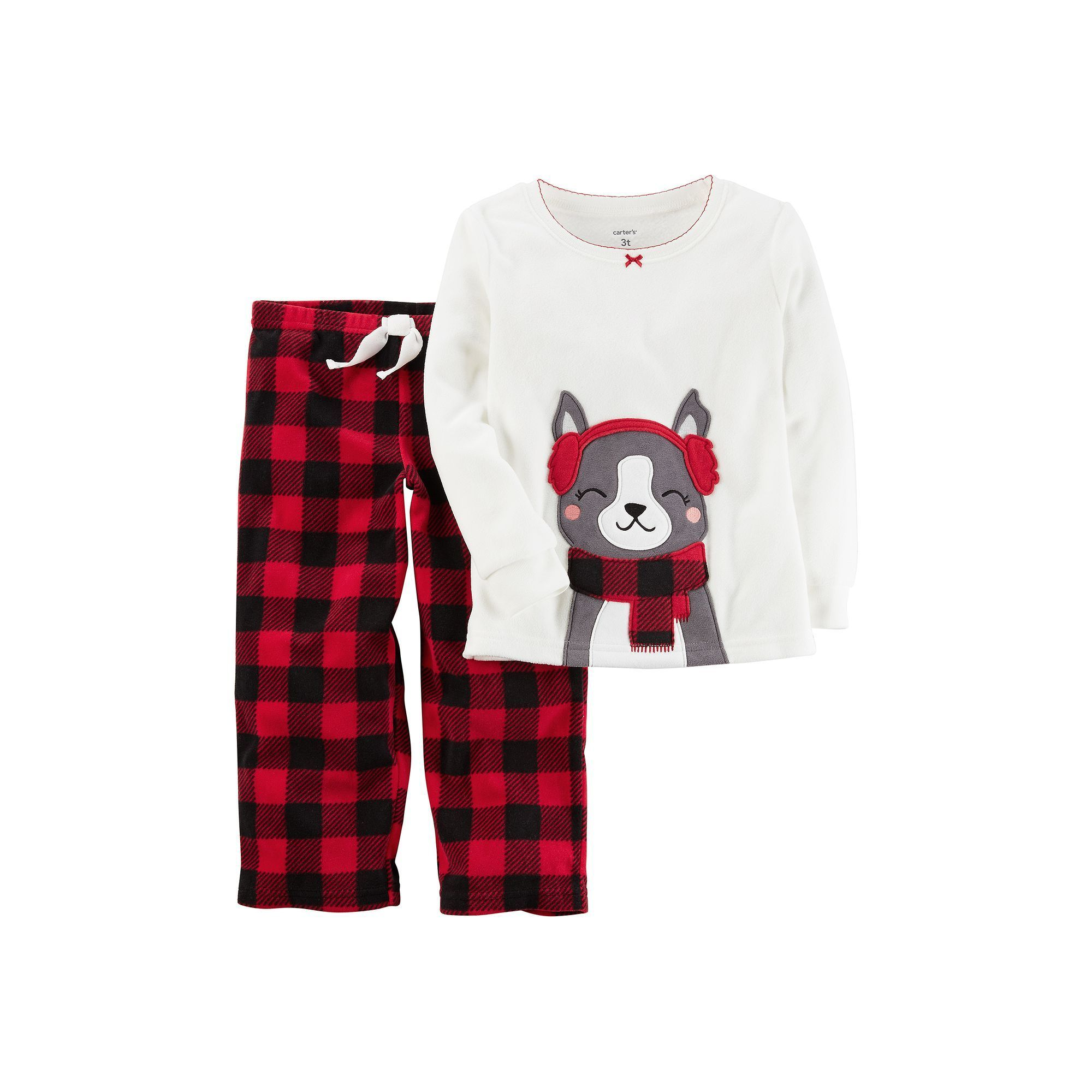 d91854da7 Toddler Girl Carter s Applique Top   Microfleece Buffalo Check ...