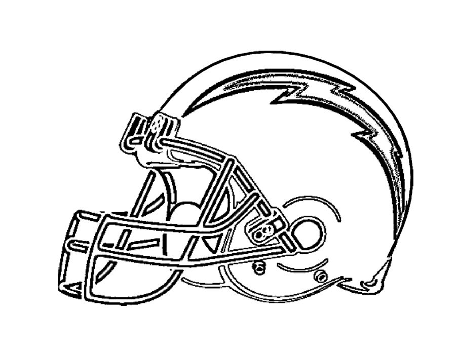 Football San Diego Chargers Coloring Page For Kids | Kids Coloring ...