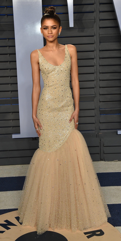 b1bf85afea Zendaya in Michael Kors attends the 2018 Vanity Fair Oscar Party.  #bestdressed