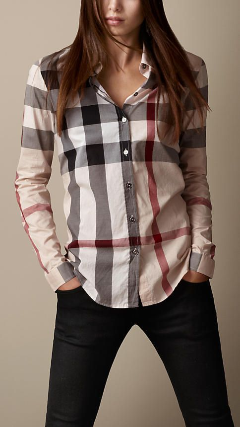 140 Burberry Check Cotton Shirt on shopstyle.co.uk  0c678b9abd