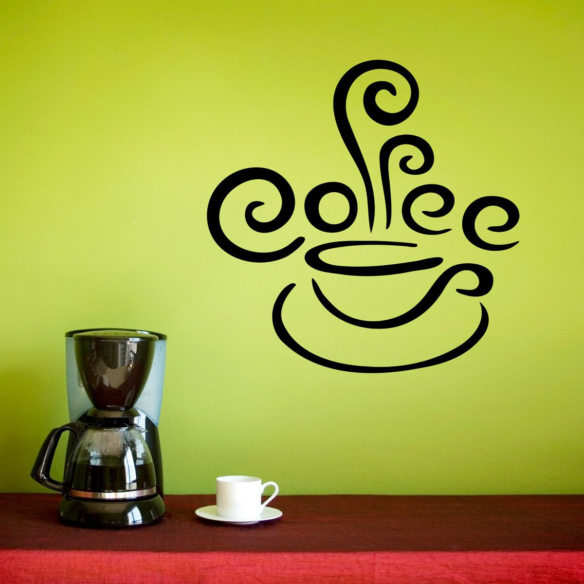 Coffee Cup With Steam Wall Decal Vinyls Colors And The