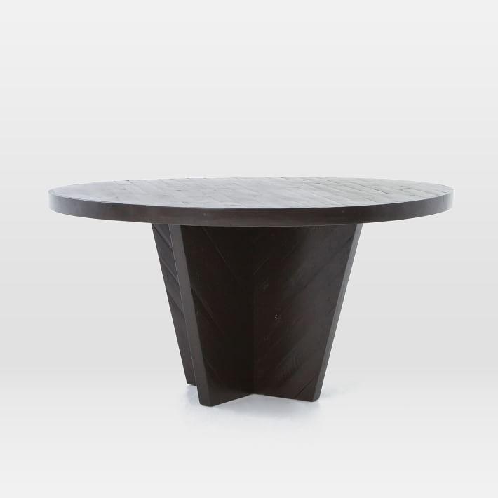 Alexa Round Dining Table, Burnished Black