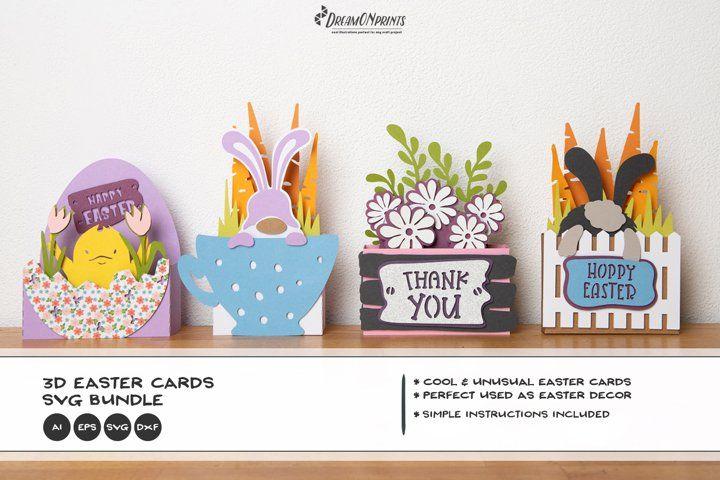 3d Easter Svg Bundle Easter Card Bundle Paper Cut Bundle
