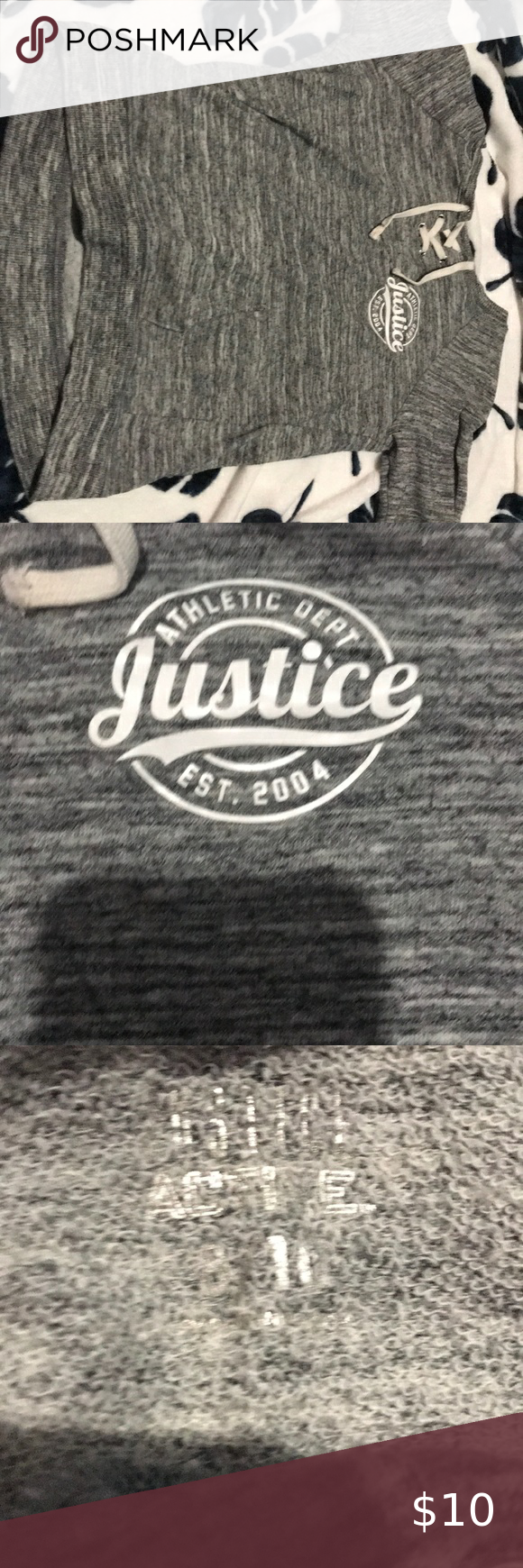 Gray Sweater From Justice Grey Sweater Sweaters Colorful Sweaters