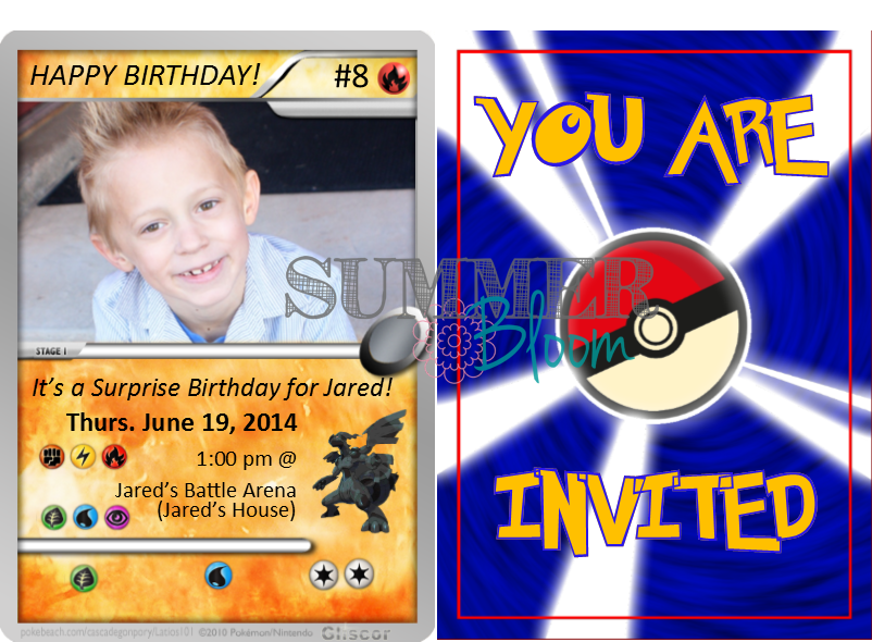 Pokemon Birthday Party Invitation Sample with FREEBIES From – Printable Pokemon Birthday Cards